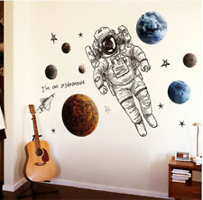 Space Astronauts Room Home Decor Removable Wall Stickers Decals Decoration