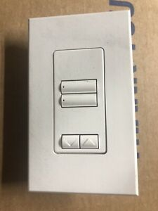 Used  Lutron  QSWS2-2BRLI-WH Switch With Cover Plate