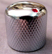 CHROME ELECTRIC GUITAR KNOB WITH RED DOT MARKER