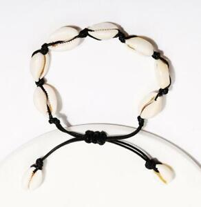 Natural Shell Bracelet Sea Cowrie Shell Adjustable Anklet Ankle Foot Chain Beach
