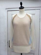 NEEDLE Women's Fine Pure Cashmere Crew Neck Jumper Sweater M/10-12