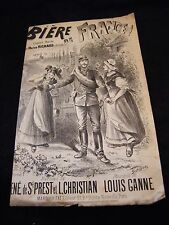 Partition Bière de France Louis Ganne Music Sheet
