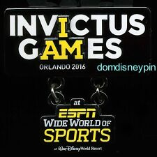 Disney Pin WDW *I AM* Invictus Games Orlando 2016 (ESPN WWOS) 3D Logo Dangle!
