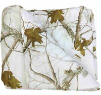 Realtree APC 3 Piece White Camouflage Queen Comforter Set with Shams Camo