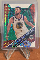 2019-20 Mosaic STEPH CURRY Green Mosaic Will To Win SP Prizm Refractor, Warriors