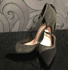 Stunning Black Gem High Heels Shoes Size 6 / 40 BNIB Cruise Cocktail Prom