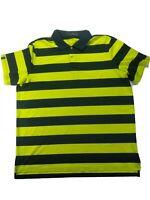 Ralph Lauren RLX Men's XXL Golf Polo Shirt Blue Neon Yellow Short Sleeve