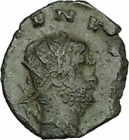 Gallienus Valerian I son Ancient  RARE Roman Coin  Salus Health Cult  i40360