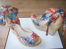 $150 UGG Lucianna Sandals Espadrille Wedge Platform Strappy Ankle sz 8.5 NEW