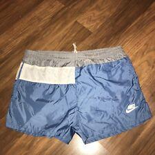 "Vtg 70s 80s NIKE Swoosh MENS MEDIUM Nylon Running Sprinter Shorts 2.5"" Inseam M"