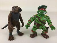 Teenage Mutant Ninja Turtles Splinter Raph Green Teen Beret Figures Vintage TMNT