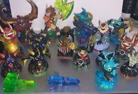 skylanders lot Of 19 Various Figures And Crystals Spyro Dark Spyro Bushwhack