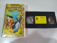 El Libro de la Selva Walt Disney - VHS Cinta Tape Español