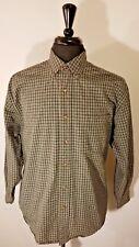 Eddie Bauer Mens Casual Shirt Medium Long Sleeve Gray Plaid Button Front M Med