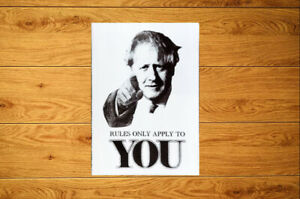 Rules Only Apply To You Sticker Packs (10-100) - Resist Boris Lockdown Tories
