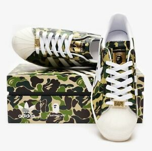 Adidas x Bape Superstar 80s Green Camo GZ8981 Size 11 Confirmed Order
