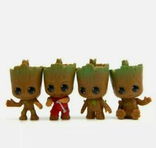 4XSet Guardians of The Galaxy Baby Tree Man Groot Figure cake topper Christmas