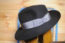 Vintage Black Fedora Trilby Hat by Tonak Eu 56 UK 6 7/8 US 7