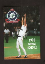 Randy Johnson--Seattle Mariners--1996 Pocket Schedule--Red Apple Markets