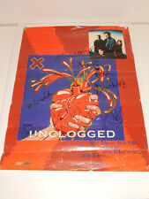1995 X Punk L.A Punk Rock Band Unclogged Autpgraph Poster