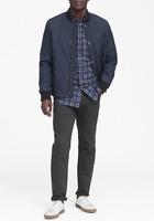 Banana Republic Slim-Fit Luxe Flannel Plaid Shirt Navy Mens Medium New NWT