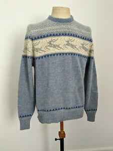 BEAUTIFUL VINTAGE NORDIC STYLE WOOL SWEATER JUMPER SIZE L