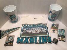 Florida Marlins MLB Inaugural Year 1993 Memorabilia Shirt Pennant Cards Pins Cup