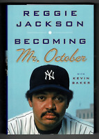 Reggie Jackson signed autographed book! RARE! Yankees! AMCo Authenticated!