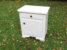 Nachtschrank,Nachttisch,kleine Kommode,Vintage,shabby,weiß,Holz,Landhaus,H.60cm