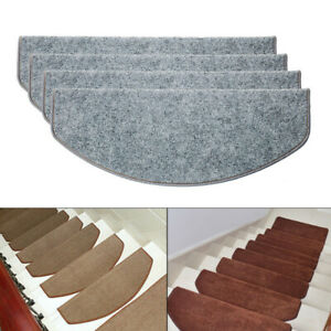 15Pcs Step Staircase Stair Tread Carpet Non Slip Mat Protection Cover Pads