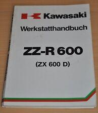 KAWASAKI Motorrad ZZ R ZZR 600 ZX 600 D 1 Motor Sporttourer Werkstatthandbuch