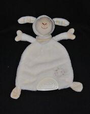 Peluche doudou mouton plat Baby FEHN blanc crème bandana soleil dentition NEUF