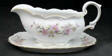 Mitterteich SPRINGTIME Gravy Boat with Attached Underplate GREAT CONDITION
