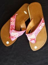 beaded-sandals-size-7-hot-pink-sequins-and-bead-wedge-in-the-back-comfortable