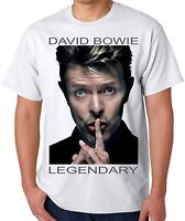 David Bowie T Shirt Unisex White Full Colour S, M, L, XL, XXL