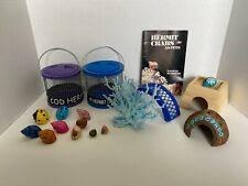 New listing Hermit Crab Accessories ~ Shells, Cage, Condo, Coral, Bridge, Book & Hut