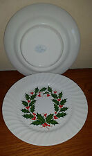 (4) VINTAGE SCIO CHRISTMAS HOLLY DINNER PLATES
