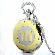 Pocket Watch Quartz with Gift Box Vintage Gold Fallout 4 Vault 111