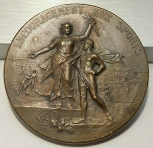 Encouragement Aux Sports - Antique - French Bronze Medal - Uninscribed