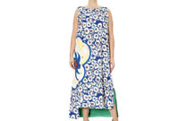 MARINA RINALDI Women's Green Dodici Floral Asymmetric Dress 14W / 23 $1580 NWT