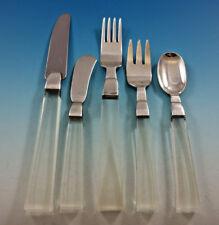 Porter Blanchard Sterling Silver & Lucite Flatware Set Service 44 Pieces Modern