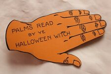 Vintage Halloween Witch fortune Palm Reading Die Cut Hand Halloween Novelty