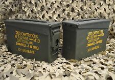 *** 2 PACK *** M19A1 7.62 / 308 Cal AMMO CAN GREAT CONDITION ** FREE SHIPPING**