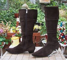 """Women Kiss Cat Brown Suede knee High Boots size US 7 With1.5"""" Heel"""