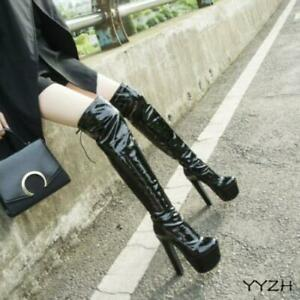 Womens Platform High Heels Thigh High Boots Nightclub Sexy Over Knee Boots Shoes