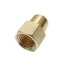 "Brass Pipe Fitting 1/8"" NPT Male x 1/8"" Female BSP Adapter Fitting Euro to US"