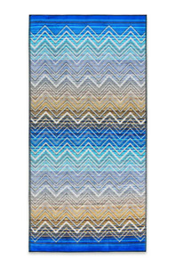 "Missoni Tolomeo Bath Towel - Blue Zigzag Color 31"" x 63"""
