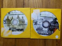 USED XBOX 360 Games Lot Battlefield Bad Company 1 & 2 - Free Shipping - 1B