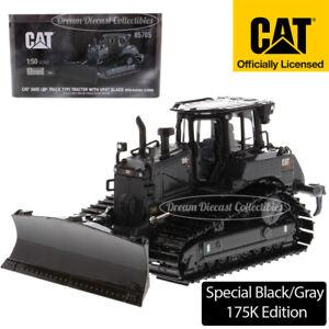 NEW 1/50 CAT CATERPILLAR D6 DOZER XE LGP VPAT BLACK GRAY DIECAST MASTERS 85705
