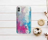 Colorful Silicone Case For iPhone XR XS Max Watercolor iPhone 6s 7 8 Plus Cover